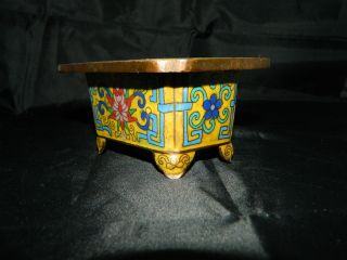 Vintage Chinese Bonsai Tree Cloisonne Planter Vase photo