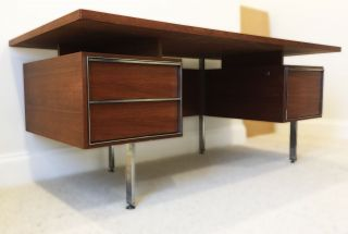 Stunning Large French Modernist Desk By Alain Richard C1950 photo