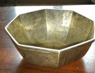 Goldsmiths Silversmiths Heavy Solid Silver Vintage Bowl (1919) photo