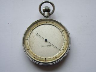 James Oliver Antique Solid Silver Victorian Pedometer,  London 1880: photo