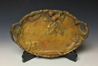 Art Nouveau Bronze Tray By Albert Marionnet photo