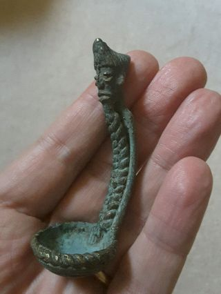 Rare Antique African Bronze Spoon,  Not Gold Weight photo