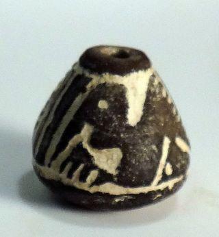 Pre - Columbian Black Large Bird Bead.  Guaranteed Authentic. photo