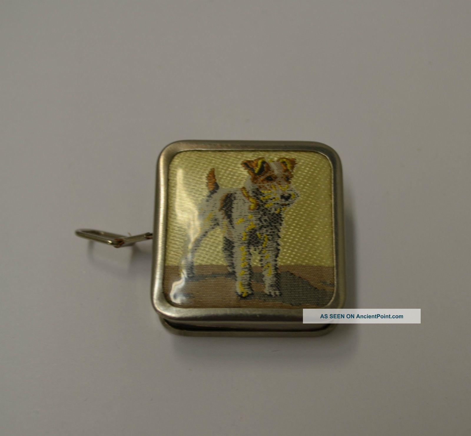 Vintage Sewing Tape Measure Scottie Dog Germany Tools, Scissors & Measures photo