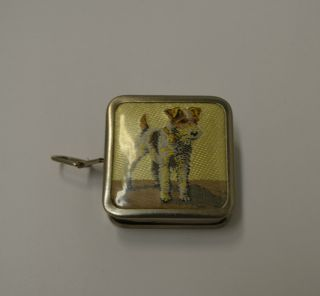 Vintage Sewing Tape Measure Scottie Dog Germany photo