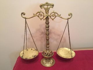 Vintage Brass Scale Of Justice photo