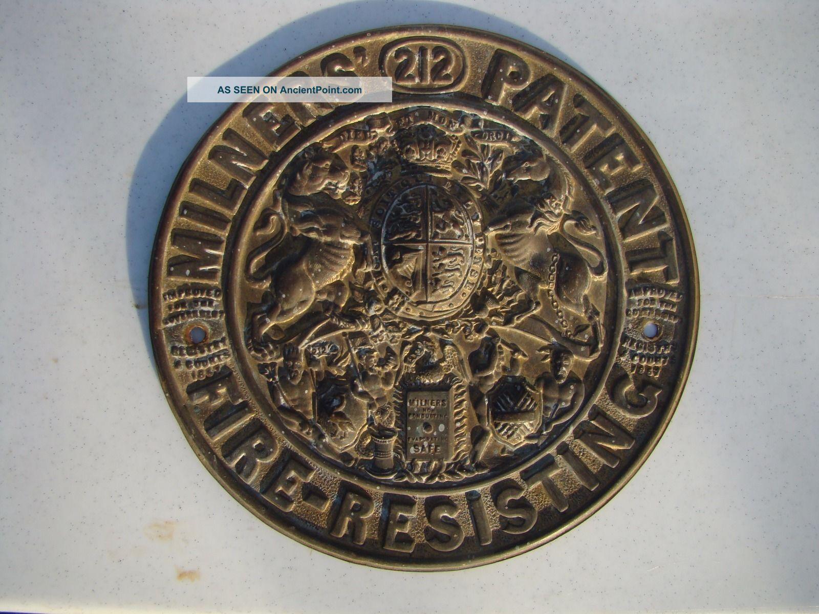 Vintage Milners Safe Plaque Plaques photo