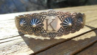 Vintage Native American Silver Cuff Bracelet photo