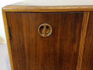 Vtg Mid Century Danish Modern Lane Storage Coffee Side Table Cabinet Cube Stand photo