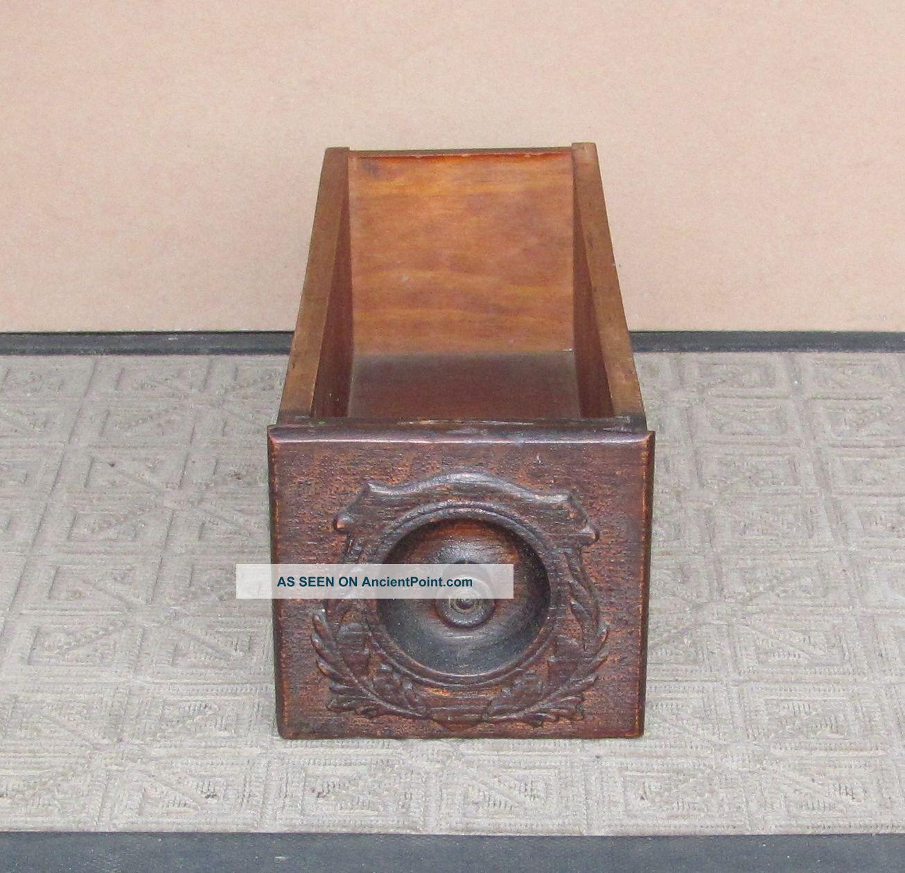 Antique Singer Treadle Sewing Machine Cabinet Drawer Furniture photo