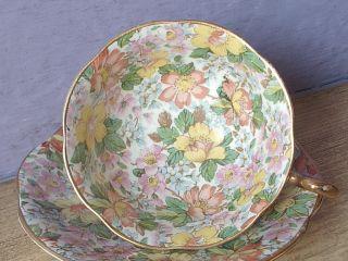 Vintage Regency Bone China Chintz Tea Cup,  English Teacup photo