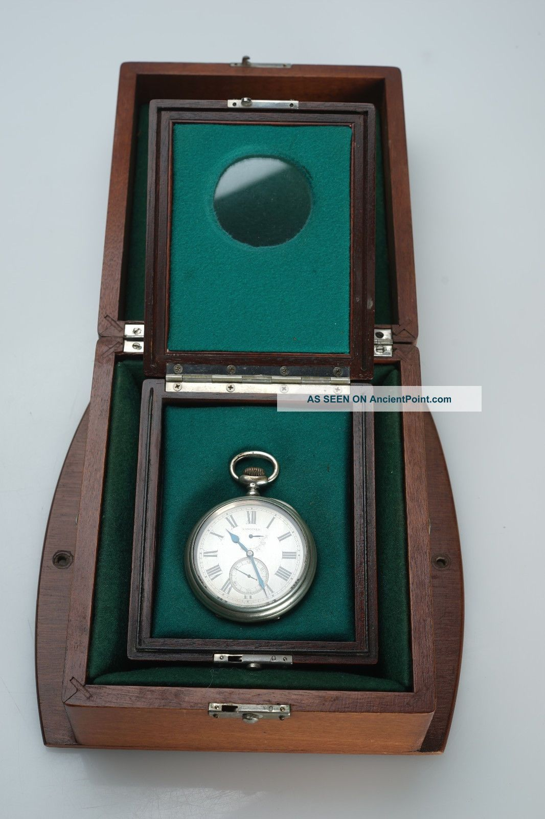 (e) Rare Ww1 Era Longines Torpedo Boat Deck Chronometer Us Navy Double Box N4095 Clocks photo