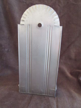 Primitive Metal Tin Candleholder Sconce Perfect From Estate photo