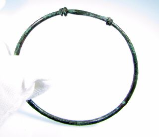 Celtic Era Bronze Twisted Knot Bracelet / Arm Ring - Wearable Artifact - B803 photo