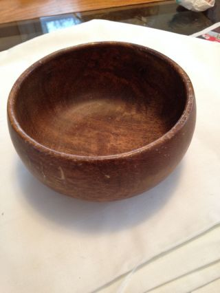 Vintage/antique Mango Wooden Bowl Old photo
