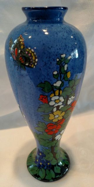 Vintage (adderley Ltd. ) Handpainted Butterfly Vase (made In England) photo