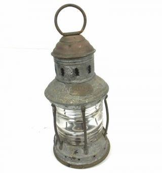 Vintage Perks Marine Ships Boat Lamp Lantern Electrified 10.  5