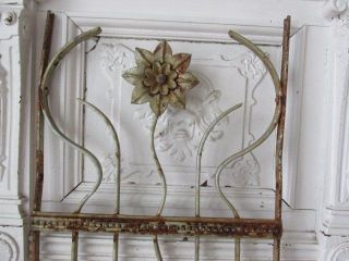 The Best Old Architectural Salvaged Metal Decor Piece Flower Ornate Patina 3 ' photo