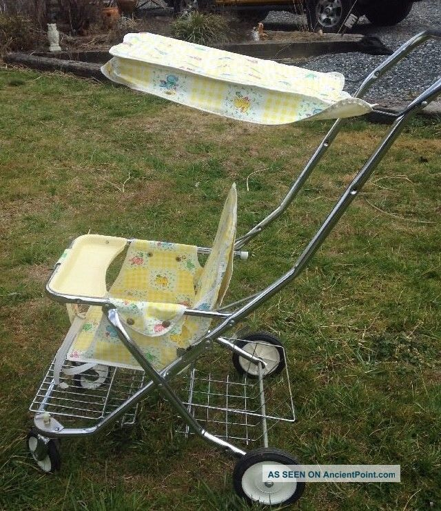 Vintage Mid - Century Sleeper Stroller Carrige Pram Cute Bunnies Winkie By Welsh Baby Carriages & Buggies photo