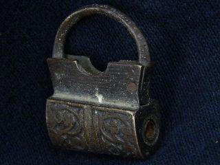 Ancient Bronze Lock Islamic 1700 Ad S2573 photo
