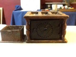 Antique 19th Century Pierced Tin Foot Warmer,  Untouched photo