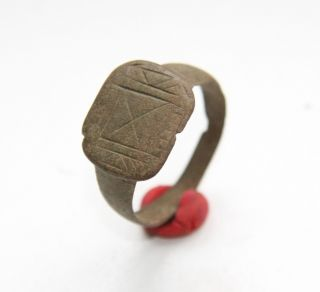 Medieval Bronze Ornament Finger Ring (now) photo