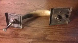 Vintage Commercial Type Thumb Release Brass Door Handle photo
