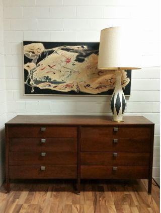 Mid Century Danish Modern Dresser Credenza Harvey Probber Style Knoll Teak photo