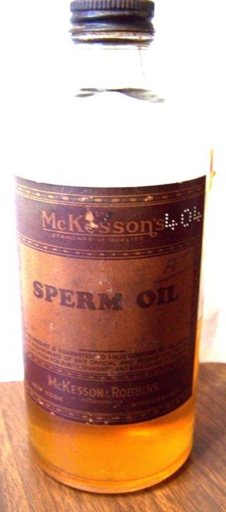 Vintage Sperm Oil In Old Drug Store Pharmacy Bottle Mckesson ' S photo
