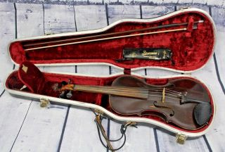 Samuel Brooks 1842 Violin Antique Ashburnham Mass Violin No 117 Mvs 16 Rare photo
