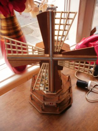 Vintage Retro Musical Windmill Table Lamp photo