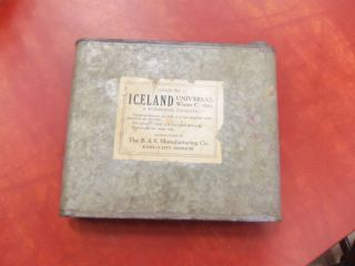 Unusual Vtg Country Primitive Iceland 3 Galvanized Zinc Universal Water Cooler photo