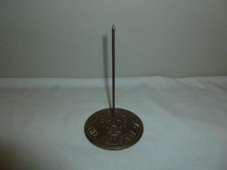 Vintage Antique Cast Iron National Cash Register Bill Receipt Spike Spindle - Bl photo