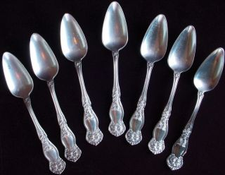 7 Wm Rogers 7 Son Aa 1910 Orange Blossom Silverplate Grapefruit Citrus Spoons photo