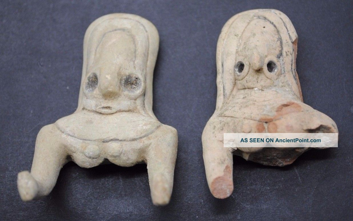 Indus Valley Fertility Idol Torsos From The Harappa Culture 3300 - 1200 Bc Near Eastern photo