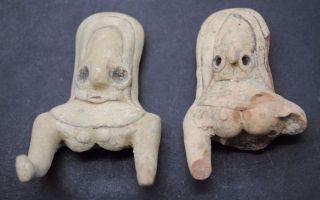 Indus Valley Fertility Idol Torsos From The Harappa Culture 3300 - 1200 Bc photo