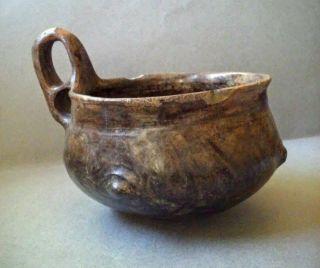 Villanovan Culture Impasto Ware Pottery Vessel,  Italy 9th - 8th Century Bc photo