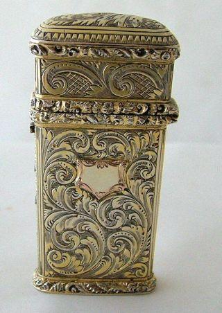 Victorian Silver Gilt Etui / Lancet Case London 1846 Simpson 55 Strand photo