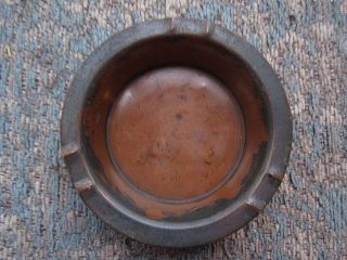 Vintage Roycroft Copper Ashtray Ash Tray Etched Signed - Usa photo