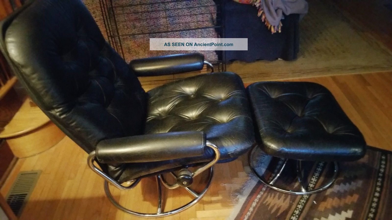 Ekornes Stressless Chair & Ottoman 1971 First Year Of Production Post-1950 photo