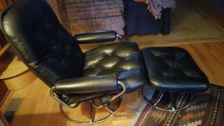 Ekornes Stressless Chair & Ottoman 1971 First Year Of Production photo