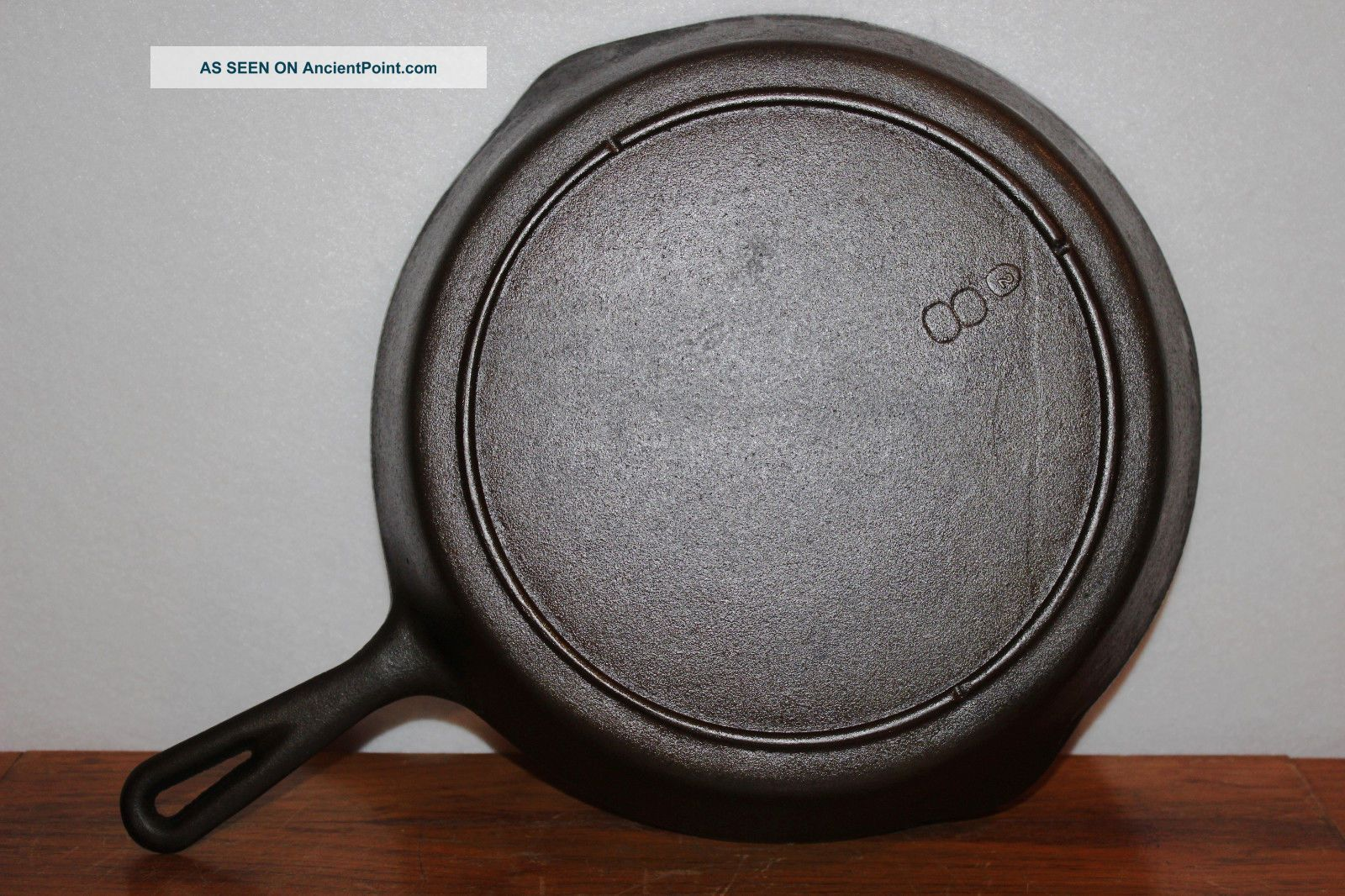 Perfect Vintage 1940 ' S - 1950 ' S Lodge No.  8 Cast Iron Skillet 3 Notch Heat Ring Hearth Ware photo