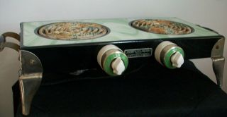 Rare Vintage Art Deco 1920/30 ' S Liberty Twin Table Top Stove/hotplate - photo