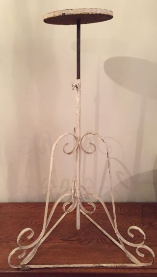 Vintage French Elegant Plant Stand Very Ornate Adjustable Plant Stand photo
