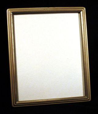 1930s Vintage Silver Leaf Art Deco Picture Frame 8 X 10 Streamlined Moderne N/r photo