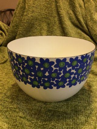 Arabia Finel Kaj Franck Finland Blue Flower Enamel Bowl photo