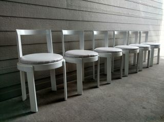 Italian 1970 ' S Modern Dining Chairs 6 Attributed To Scarpa Gavina Cassina Frau photo