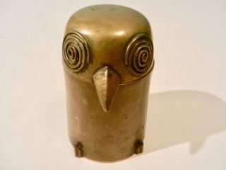Mid Century Modernist Brass Owl,  1950 ' S From Cranbrook School,  Harry Bertoia Era photo