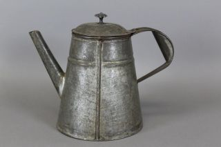 A 19th C Shaker Style Tin Coffee Pot In The Absolute Best Surface photo