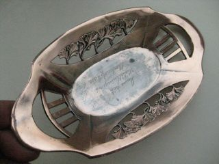Antique 1909 Sweden Copper Art Nouveau Tray photo